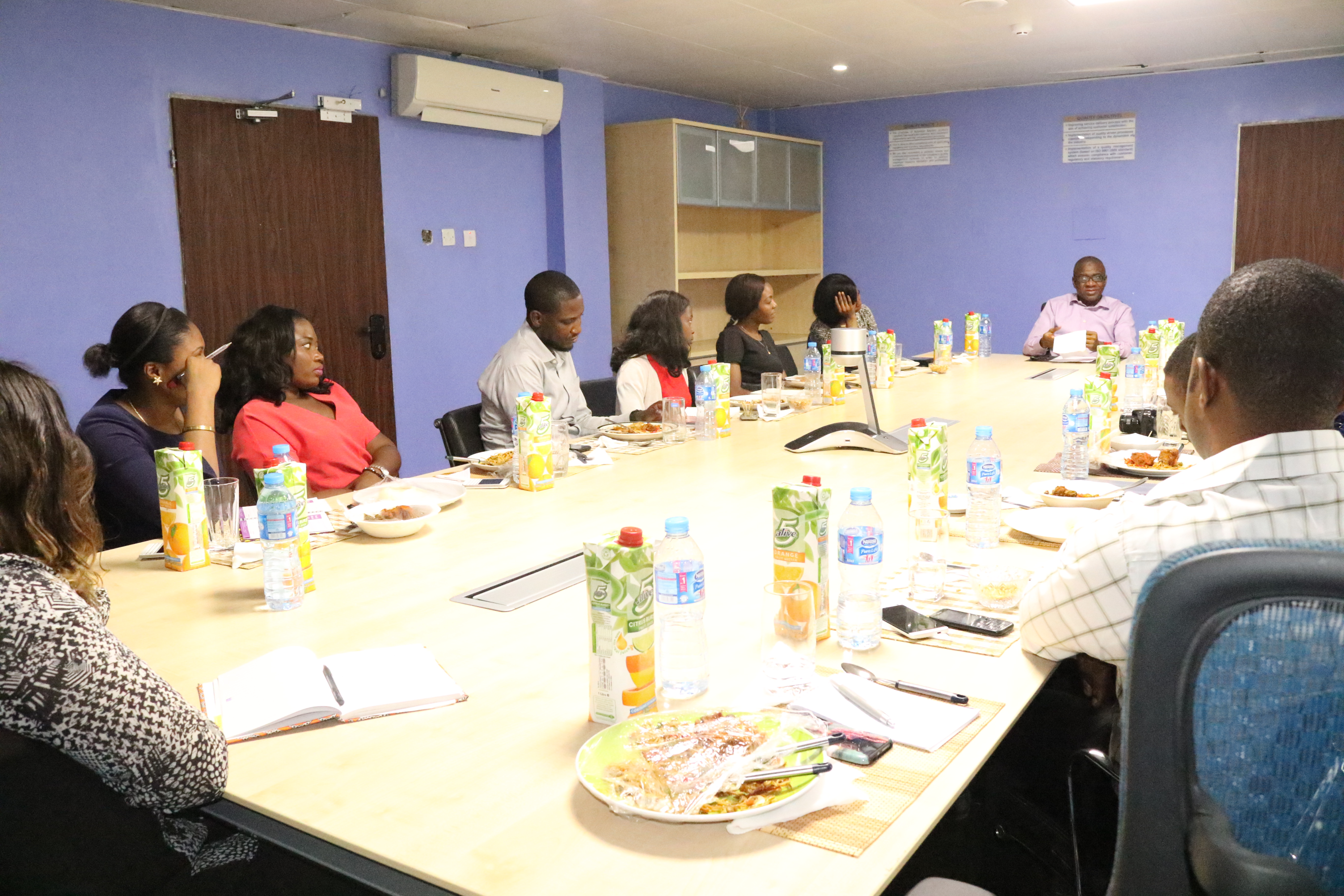 Corporate Services Division which comprise of Human Resources, Protocol and Logistics, Legal, Digital Marketing, Content Writing and Management, Customer Service, Corporate Affairs, GMD's office, Egole and P-SEAMS unit whetting their appetite when the GMD hosted them