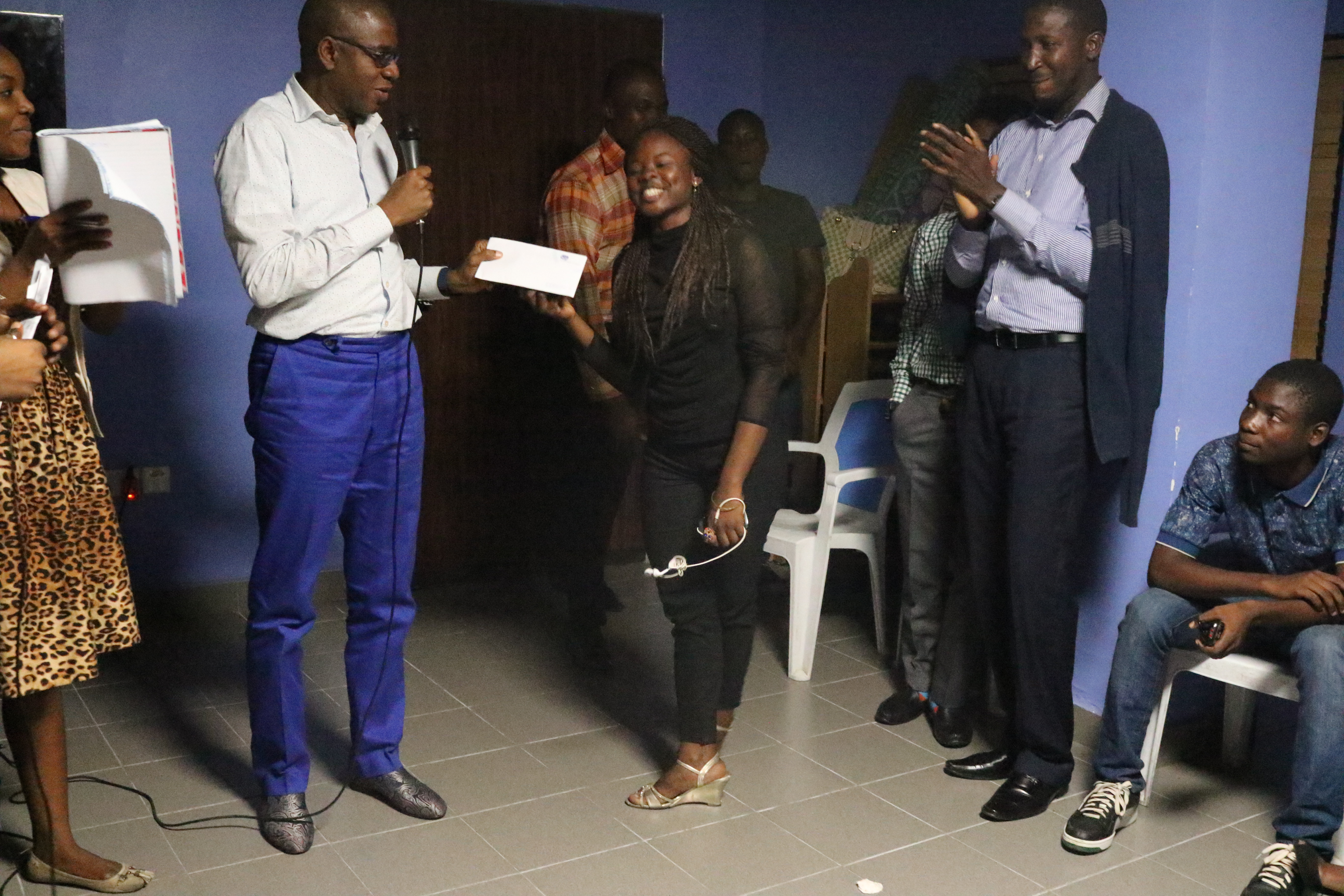 Nifemi Kolawole, Winner of the first prize during the second edition held in October. Bob Marley's Redemption Song won her the coveted highly position